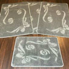 ROMANY GYPSY WASHABLES SET OF TOURER SIZE 67X110CM MATS-RUGS NEW BOWS SILVER